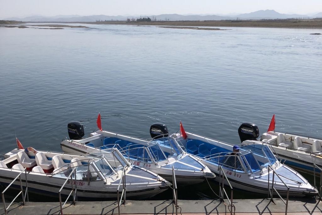 北朝鮮遊覧する時に乗るボート