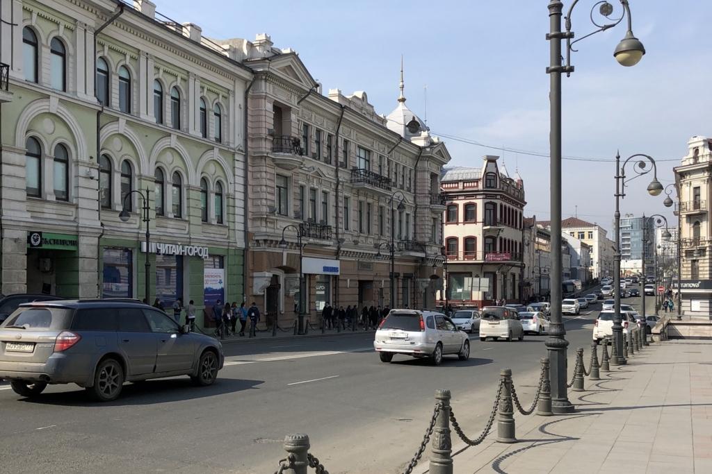 ウラジオストクのメインストリート