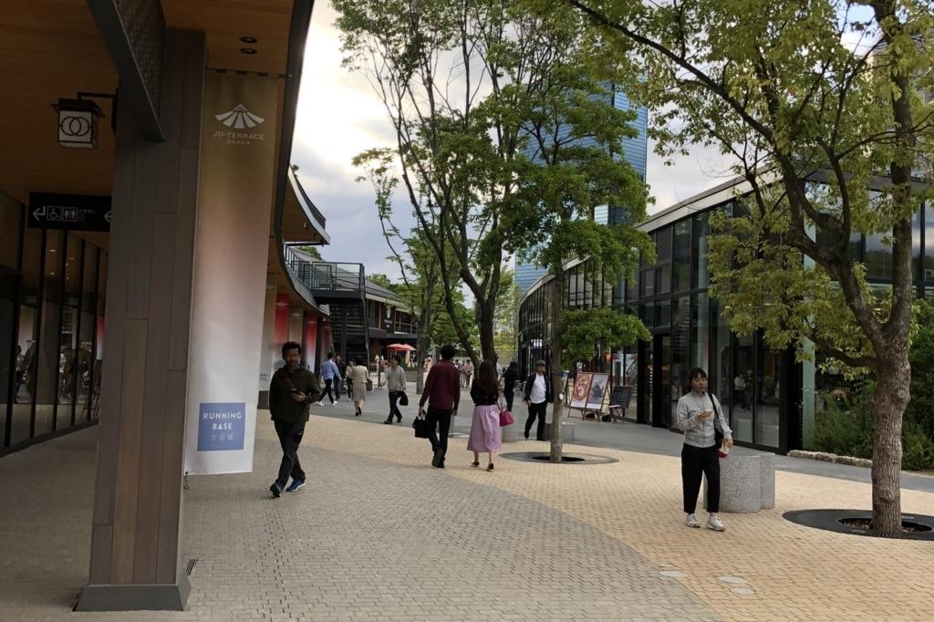 大阪城公園駅の駅前の様子