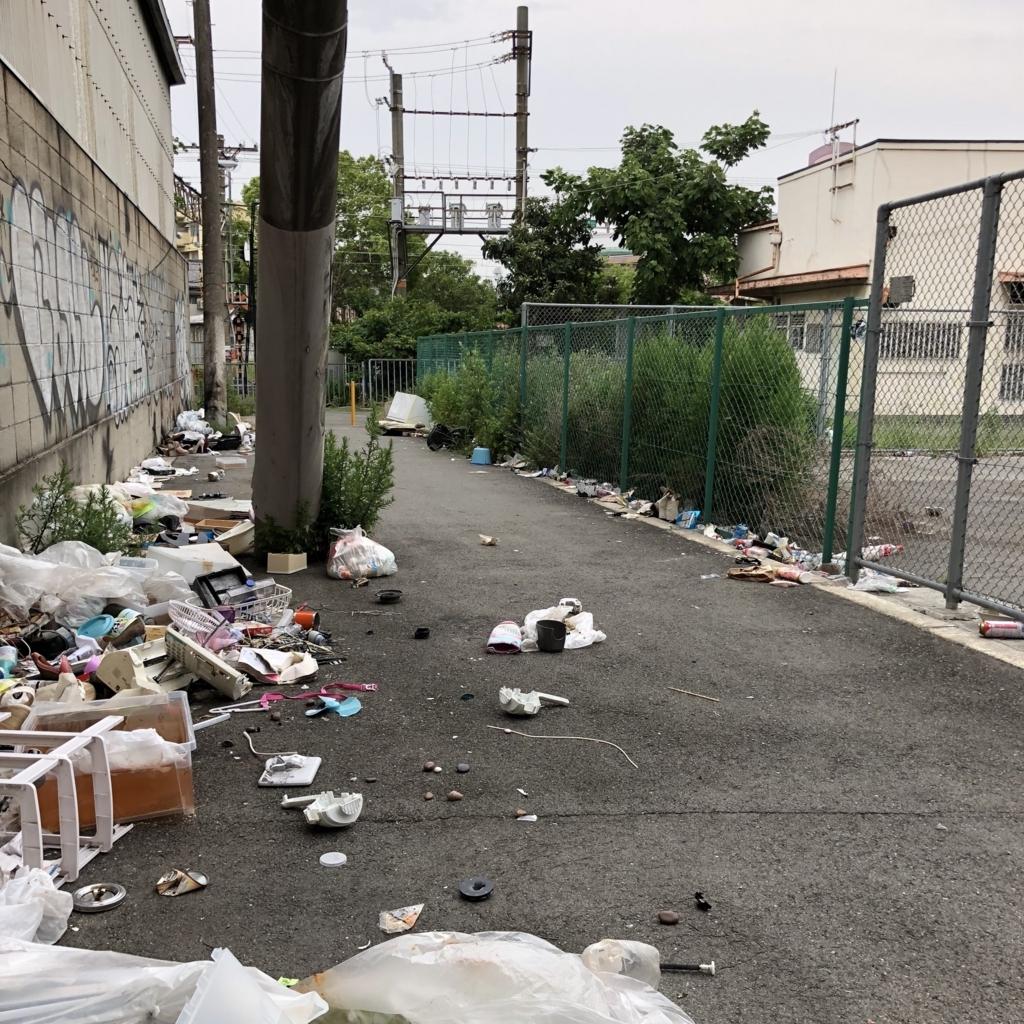 木津川駅とゴミ