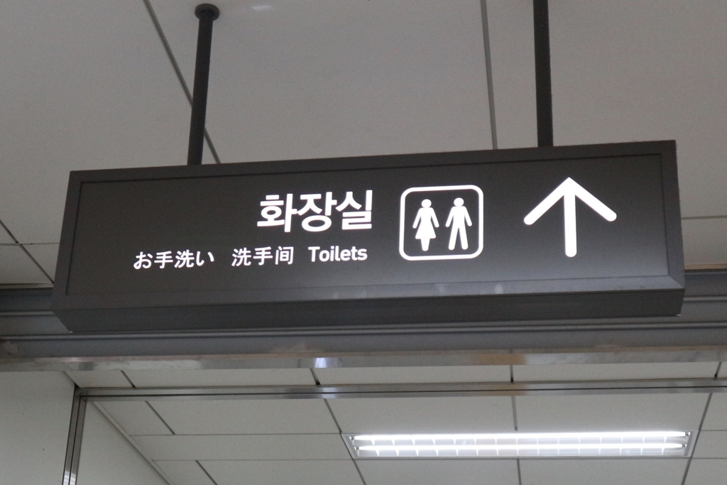 アジアの言語と英語で書かれた看板