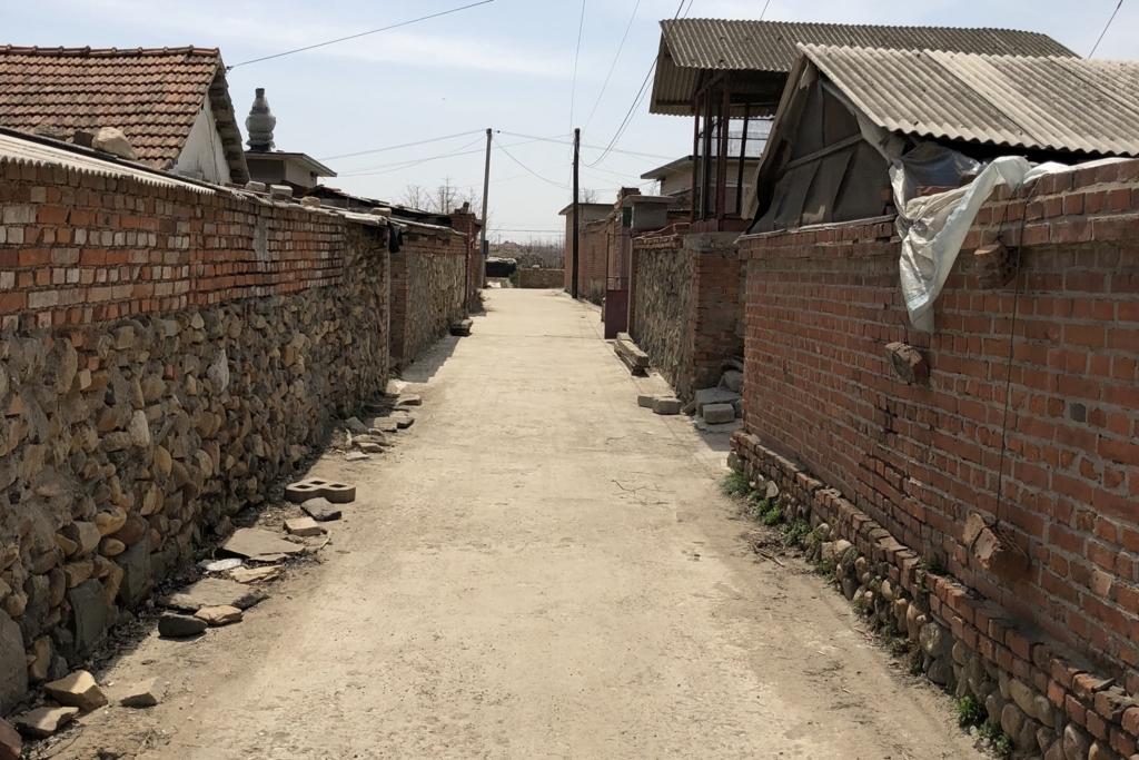 中国と北朝鮮の国境近くの集落