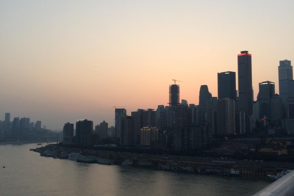 中国のマンハッタンと言われる風景