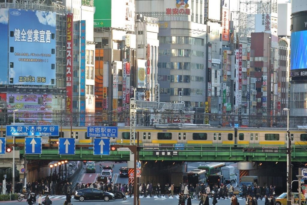 東京の繁華街の様子