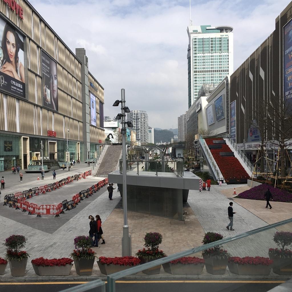 中国・深センの繁華街