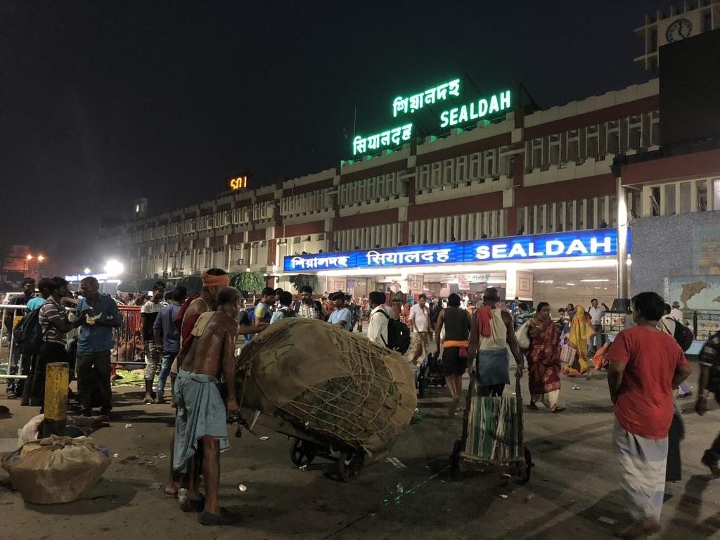 インド・コルカタのシアルダー駅