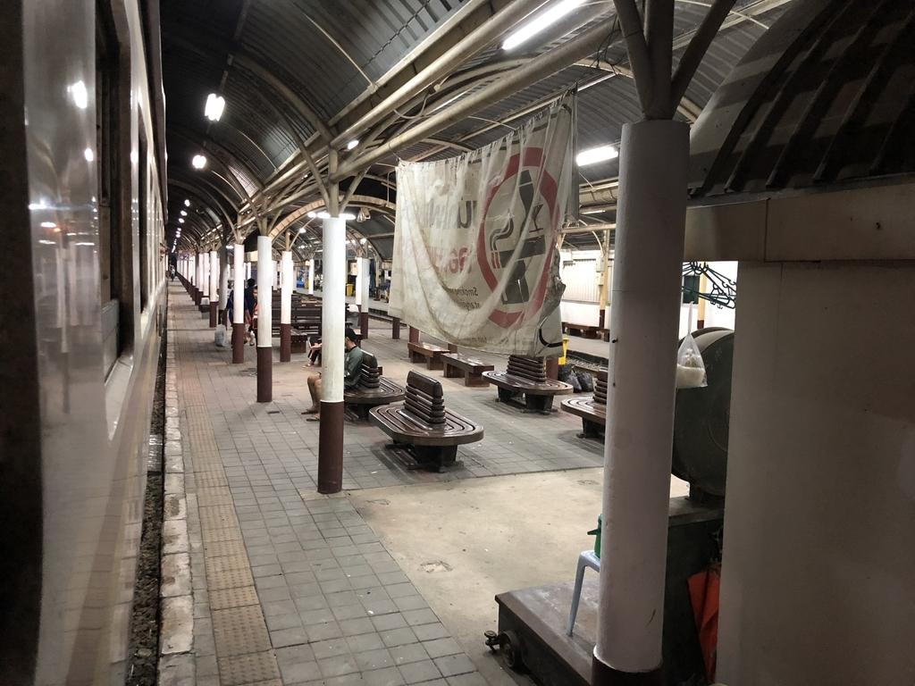 バンスー駅に到着