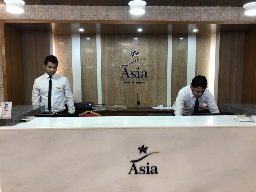 ダッカのAsia&Resortのフロント