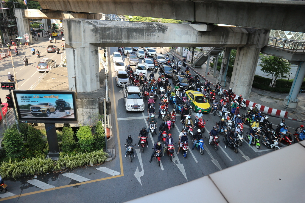 バンコクの道路の状況