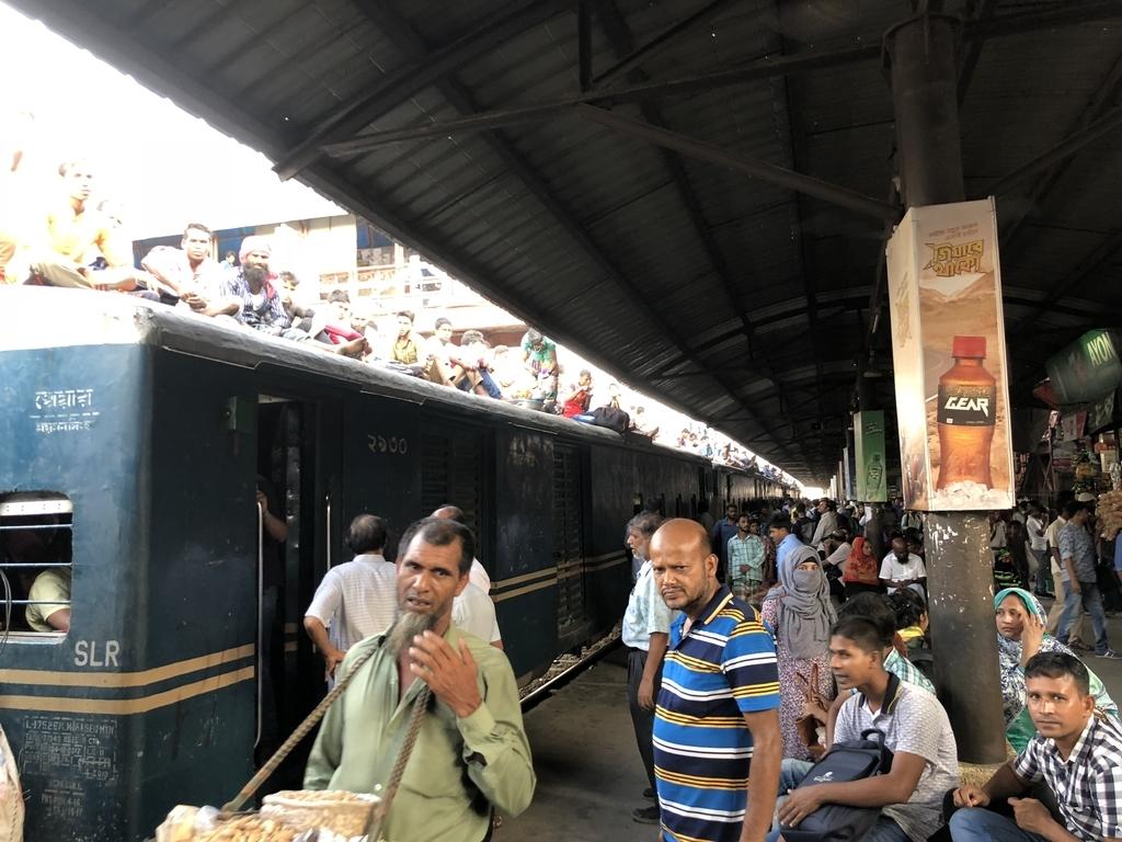 ダッカのビマンバンダール駅
