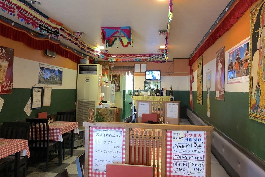 インド料理「ディーパ」の店内