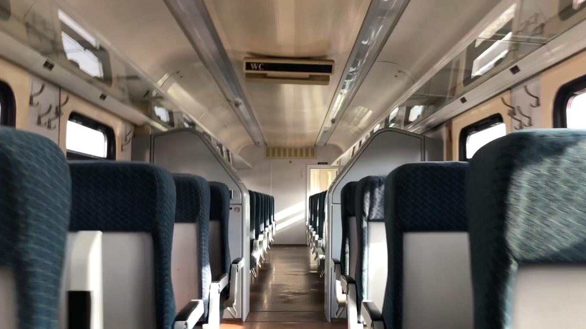 サハリン鉄道の車内