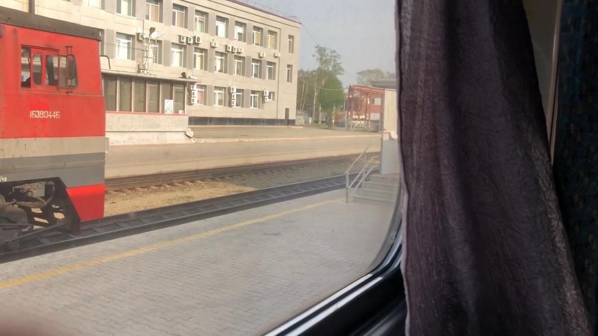 サハリン鉄道の車窓