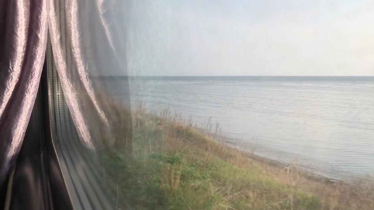 サハリン鉄道から見える海