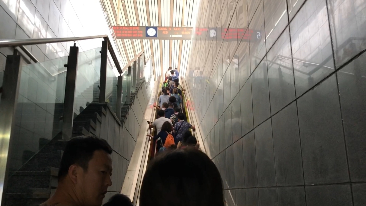 丹東駅の改札内