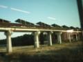 宮崎実験線跡地のソーラーパネル