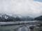 鶴来駅付近の手取川からの風景