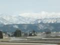 北陸新幹線から立山方面