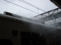 指宿のたまて箱  終着駅到着時の白煙