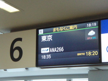 ANA266 東京行き