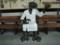 福井駅のベンチ