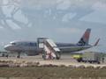 帰りの飛行機 A320-200 JA25JJ