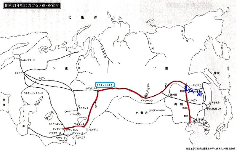 クラスノヤルスクの地図