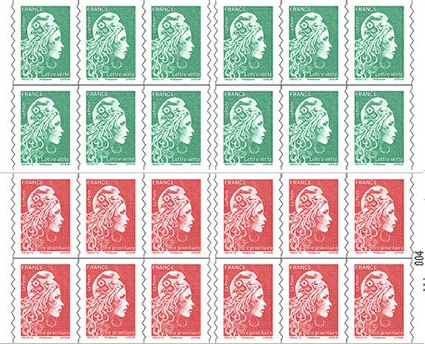 2018年に変わったフランスの普通切手