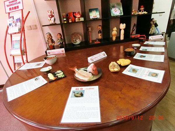 日本語を学ぶ方々のための日本センターの展示