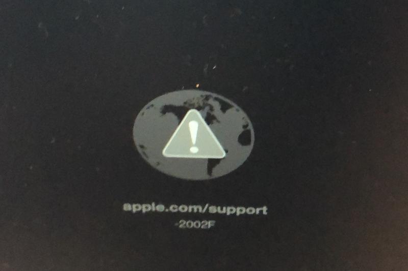 Mac復元画面で -2002Fエラー