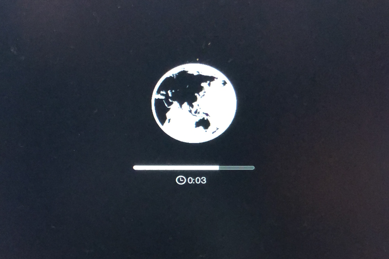 Mac 復元画面