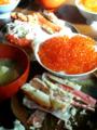 カニ&いくら丼