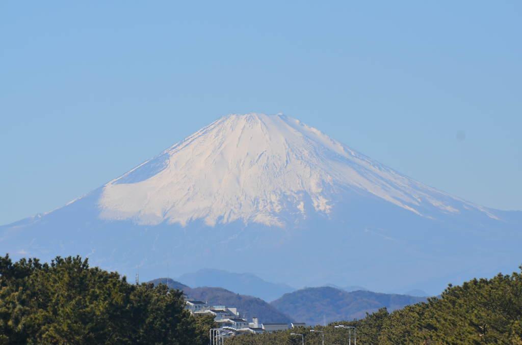 1月27日12:15頃の富士山
