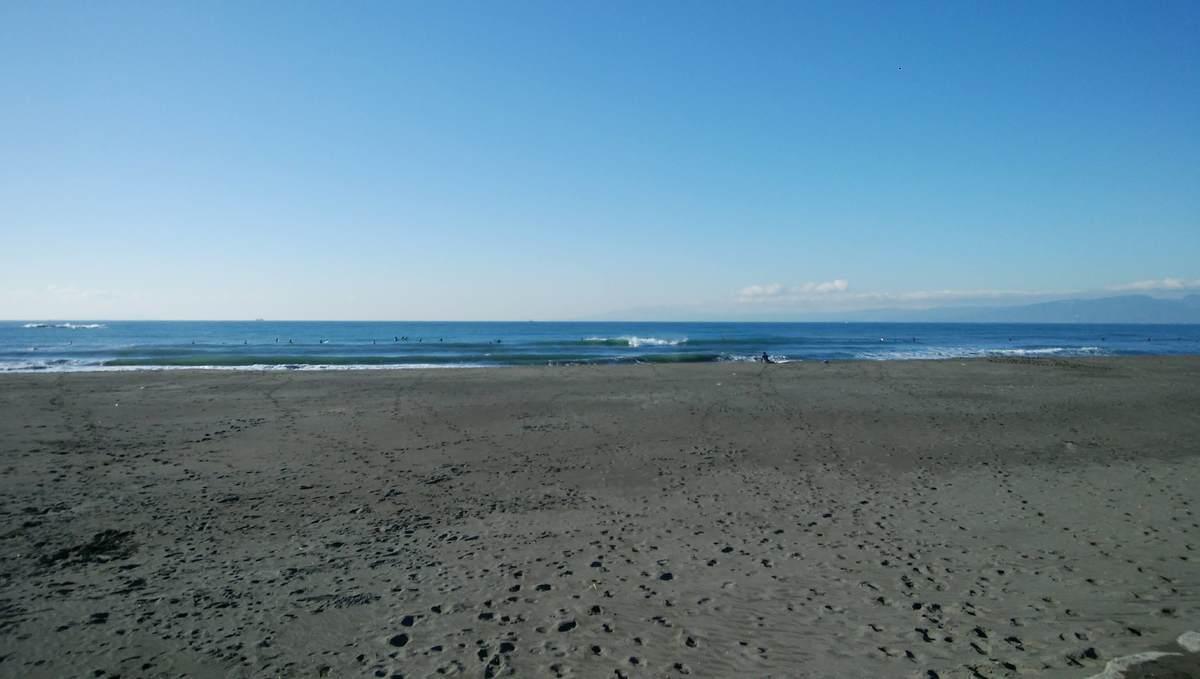 2021年2月3日午前9:01の茅ヶ崎西浜