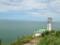 角田灯台と佐渡島