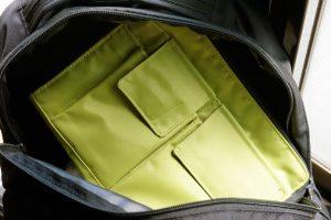 カリマーイクリプスにリヒトのバッグインバッグ