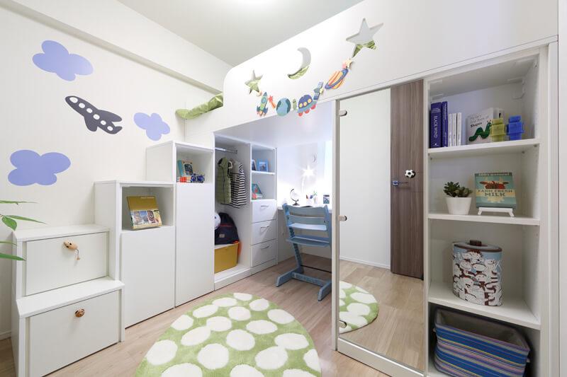 子供部屋ロフトベッド家具
