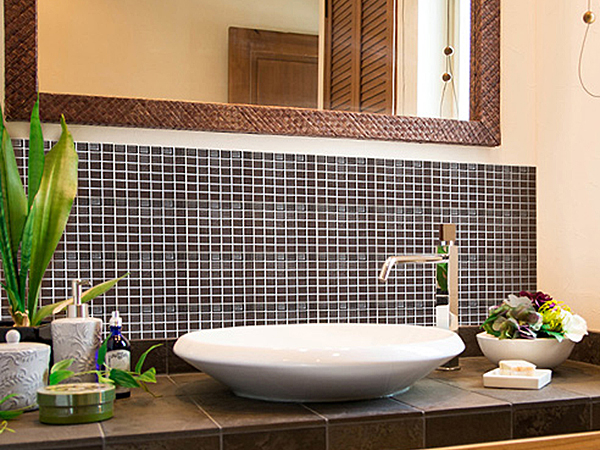 洗面所のモザイクタイルDIY用