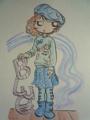 リボン付きボアブーツ&格子柄スカート♪(Color Version)