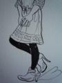 パネルプリントワンピース♪(Monotone Version)