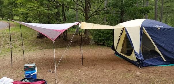 ソロでのテント設営