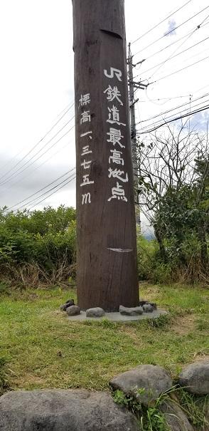 JR鉄道最高地点