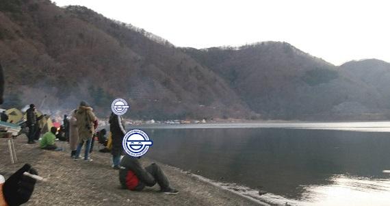 洪庵キャンプ場の初日の出