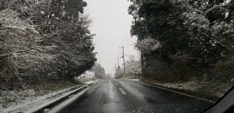 千葉の雪景色