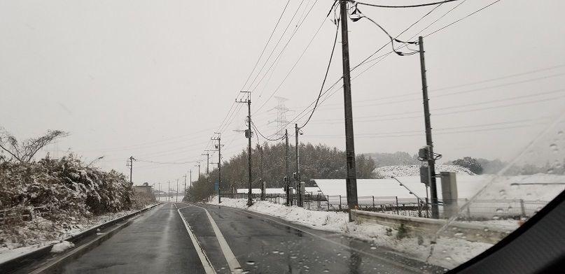 成田の雪景色