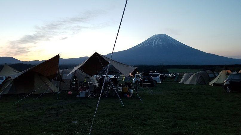 富士山 夜明け 日の出