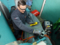 プララド油圧トルクレンチで風力発電ボルト締め作業
