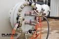 [油圧トルクレンチ][油圧レンチ][日本プララド][ボルト並行締め][ボルト平行締め]日本プララド - 油圧トルクレンチ4台でボルト並行締め トルク管理