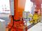 日本プララド - 油圧トルクレンチでガントリークレーンのM42ボルト締め