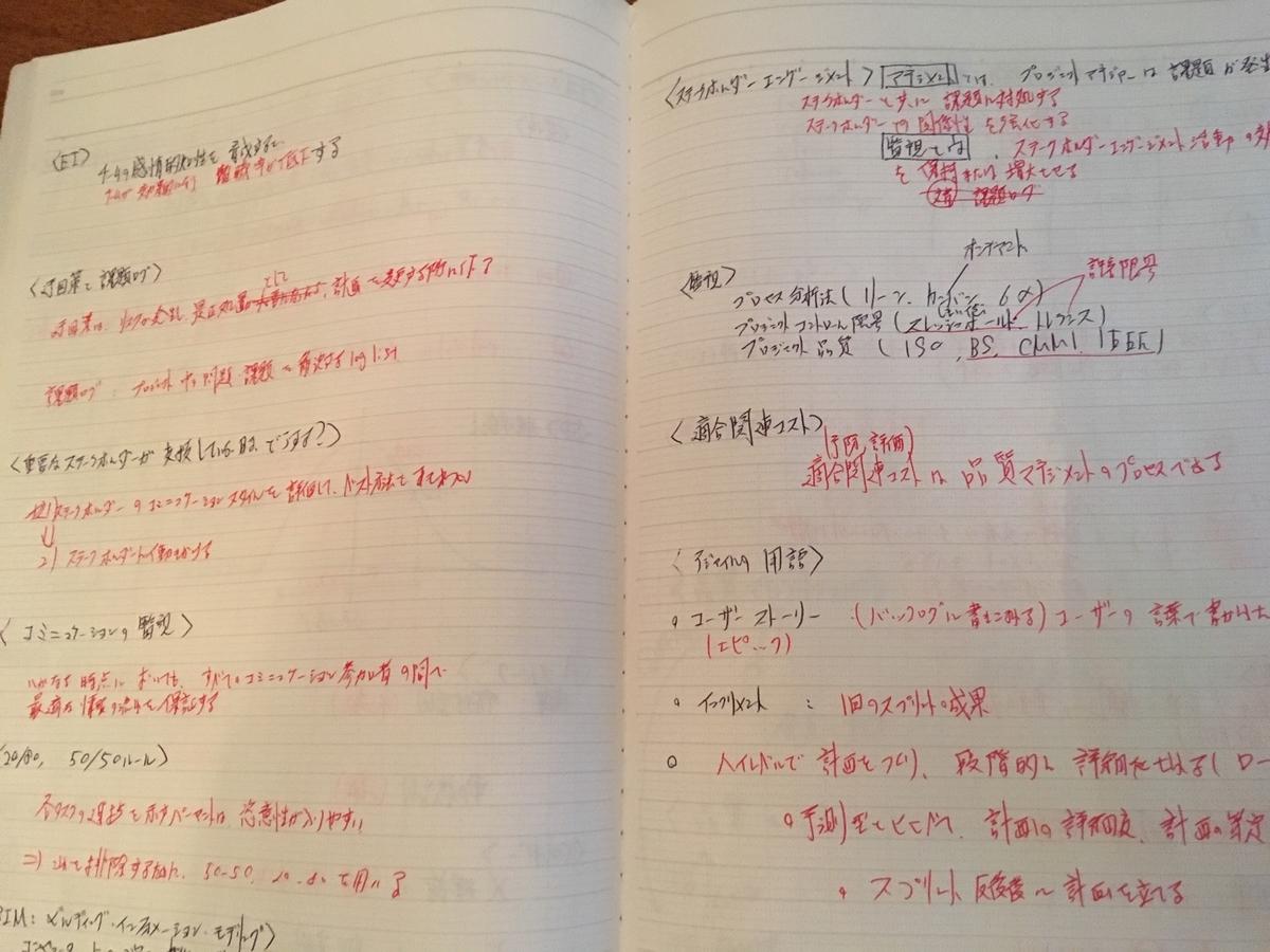 PMP試験対策ノート